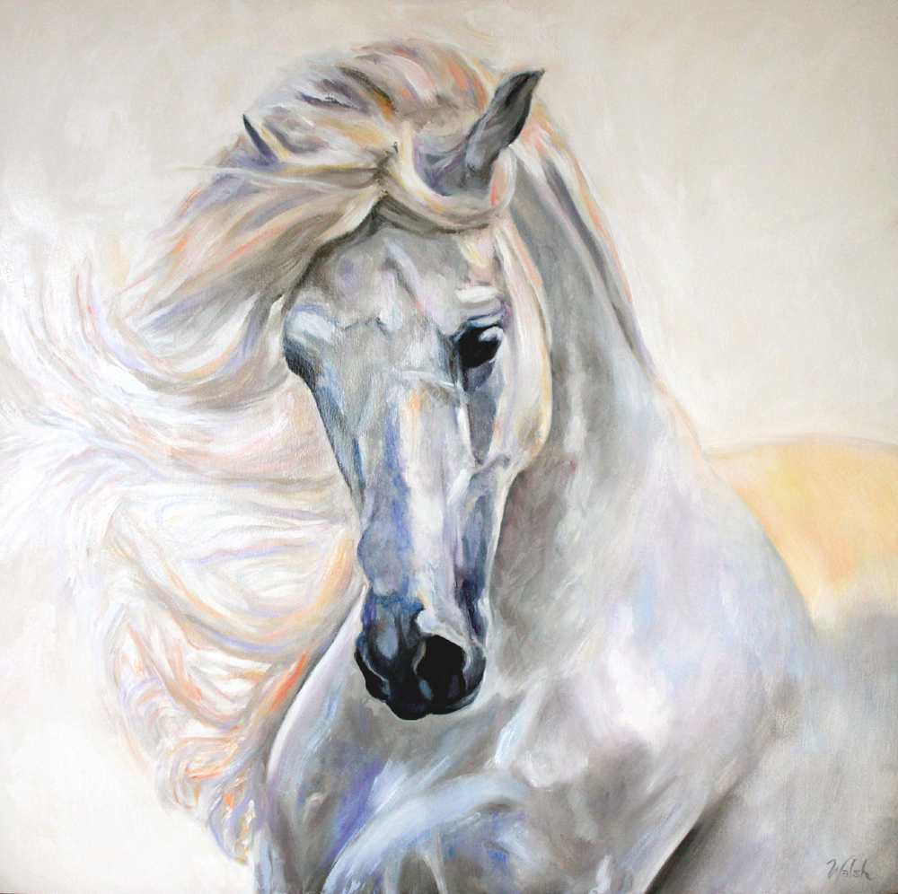 The silver shadow that passes (from The Thunderer - a poem by the Horse Poet)